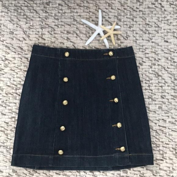 MICHAEL Michael Kors Dresses & Skirts - Michael Kors denim skirt with button details